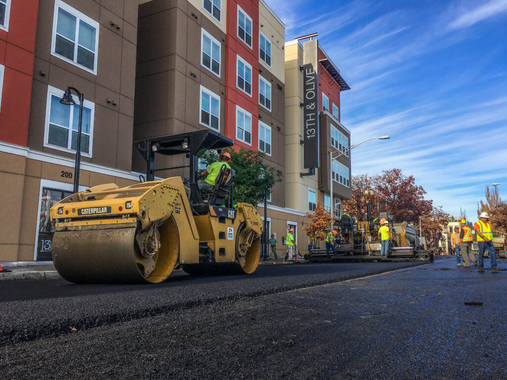 Pavement construction in Eugene, OR
