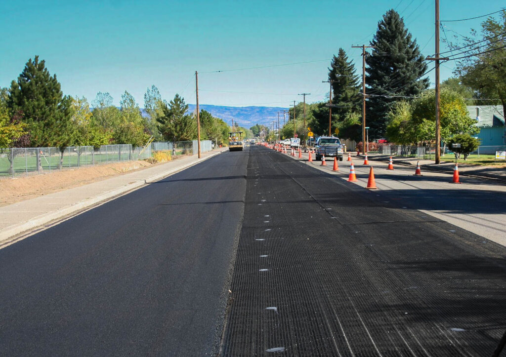 a road undergoing reconstruction